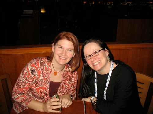 "Christina Katz and Lindsay Maines in NYC ""having lunch"""